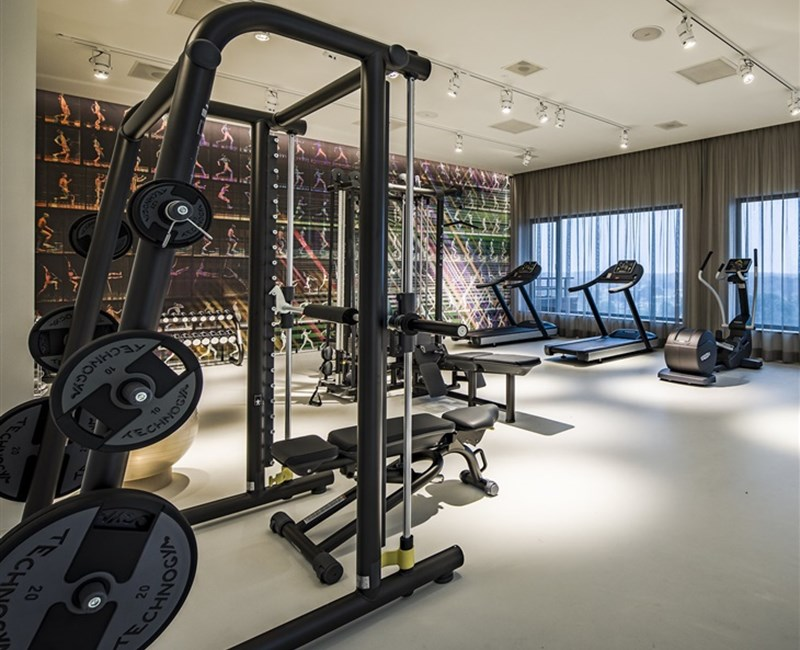 Work out during your stay with us!