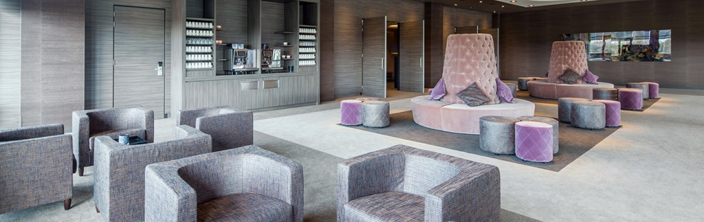Een luxe business lounge