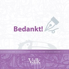 Greeting card: Thank you - Bedankt