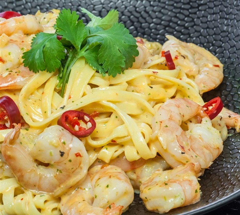 Nu in onze restaurants: Gamba Pasta