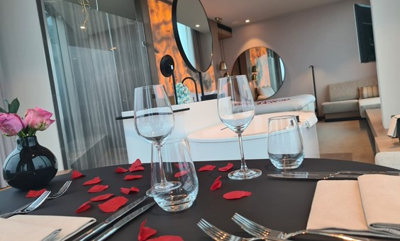 Romantic In-Room Dining